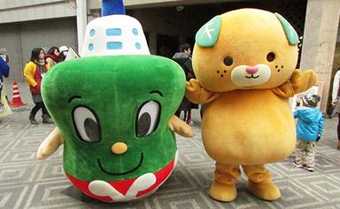 いまぞう君と愛媛県公式キャラクター「みきゃん」