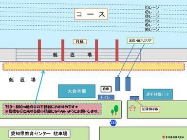 中日本レガッタ 会場案内図