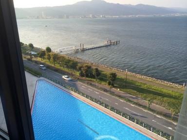琵琶湖を展望.JPG
